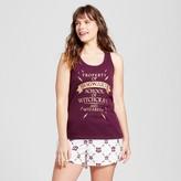 Warner Brothers Women's Plus Size Pajamas Harry Potter Tank/Boxer Set