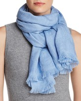 Armani Collezioni Wool Stiched Floral Scarf