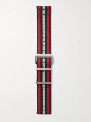 Montblanc Summit 2 Striped Nylon Watch Strap - Men - Red