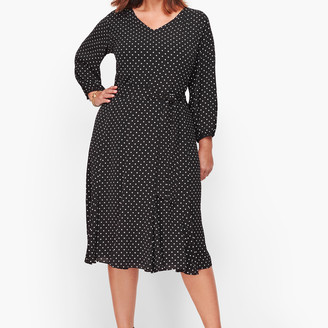 Talbots Ditsy Dot Fit & Flare Dress