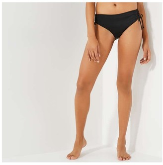Joe Fresh Women's Ruched Swim Briefs, Black (Size M)