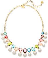 Kate Spade Gold-Tone Multi-Stone & Imitation Pearl Necklace