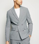 New Look Double Breasted Slim Suit Jacket