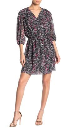 Rebecca Minkoff Isabella Ditsy 3/4 Sleeve Dress
