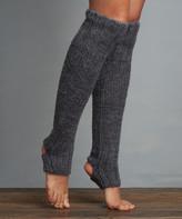 Lemon Legwear Women's Leg Warmers Flannel - Gray Wool-Blend Leg Warmers - Women