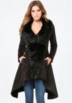 Bebe Faux Fur Trim Coat