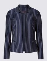 Marks and Spencer PETITE Pinstriped Long Sleeve Jacket