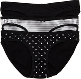 Motherhood Printed Fabric Maternity Hipster Panties (3 Pack)
