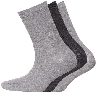 S.O.H.O New York Womens Collection Three Pack Socks Rib Black