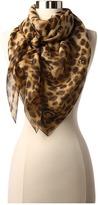 Alexander McQueen Leopard Skull Scarf (Camel/Black) - Accessories