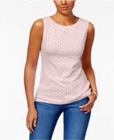 Karen Scott Sleeveless Polka-Dot Top, Created for Macy's