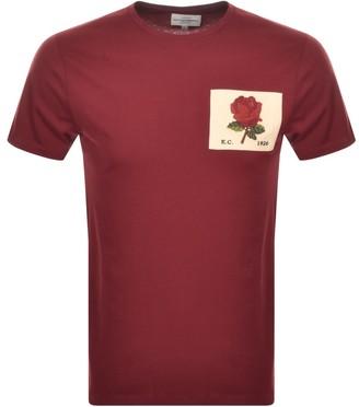 Kent And Curwen Rose T Shirt Burgundy