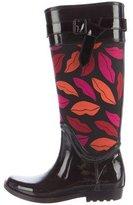 Diane von Furstenberg Lip Printed Rain Boots