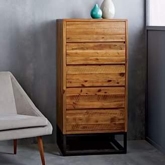 west elm Logan Industrial 5-Drawer Dresser - Natural