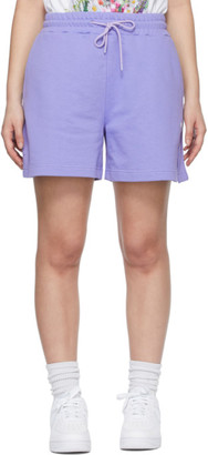 MSGM Purple Sweat Shorts