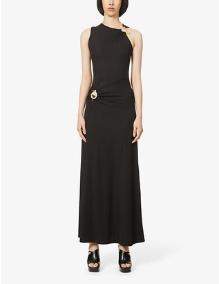 CHRISTOPHER ESBER Orbit cut-out stretch-knitted maxi dress