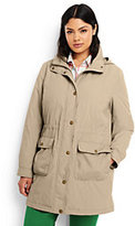 Lands' End Women's Plus Size Insulated Casual Parka-Meadowland Green
