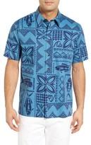 Quiksilver Men's Fish Guru Print Sport Shirt