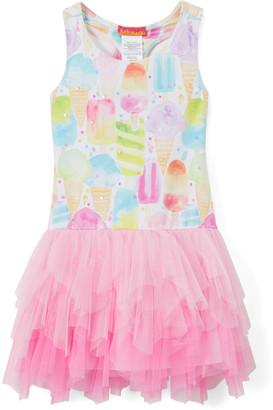 Kate Mack Girls' Casual Dresses MULT1 - Pink Ice Cream Cone Drop-Waist Dress - Toddler