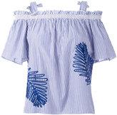 Tanya Taylor striped bardot top - women - Cotton - 6