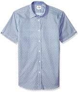 Ben Sherman Men's Short Sleeve Geo Target Print Shirt
