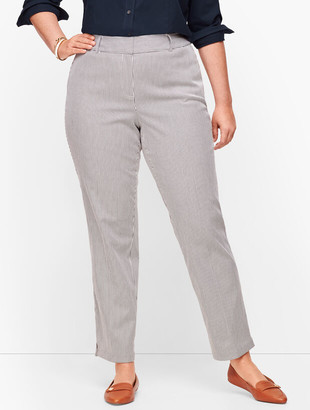 Talbots Plus Size Hampshire Ankle Pants - Teatime Stripe