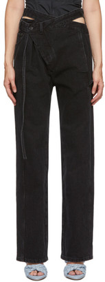 Ottolinger Black Loose Wrap Jeans
