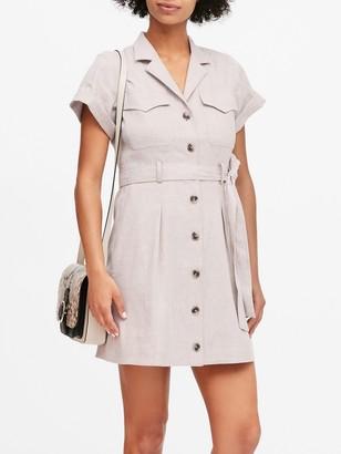 Banana Republic Linen-Cotton Utility Dress