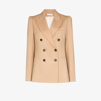 Chloé Double-Breasted Stretch Wool Blazer