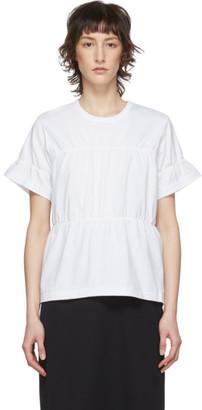 Comme des Garçons Comme des Garçons White Ruched T-Shirt