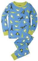 Hatley Boy's Organic Cotton Long Sleeve Printed Pyjama Sets,12