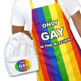 IGGI Only Gay In The Kitchen Apron and Hat Set