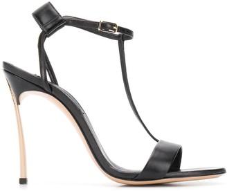 Casadei metallic heel T-bar sandals