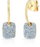Ice 1/3 CT TW Diamond 14K Gold Rectangular Dangle Earrings