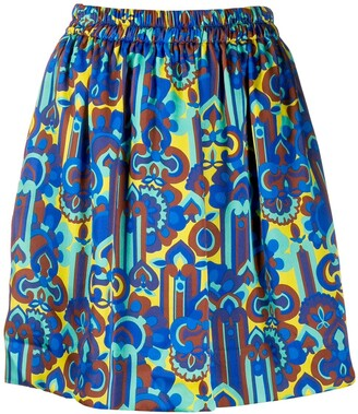 La DoubleJ All-Over Print Pouf Skirt