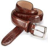 Charles Tyrwhitt Brown leather embossed croc belt