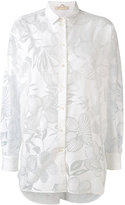 Mantu sheer floral pattern shirt