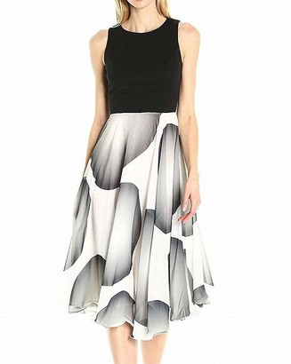 Sangria Women's Sleeveless Midi Fit and Flare