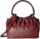 Steven Slouchy Satchel with Real Suede Tassel