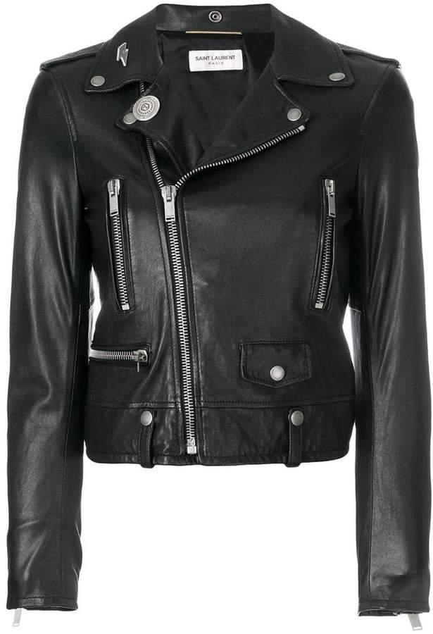 Saint Laurent zipped fitted biker jacket