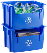 Container Store Blue Stacking Recycling Bin