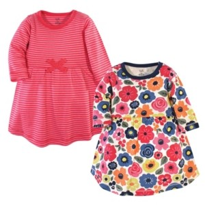 Touched by Nature Baby Girl Long Sleeve Organic Dress 2-Pack
