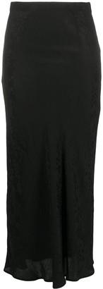IRO Leopard-Print Midi Skirt