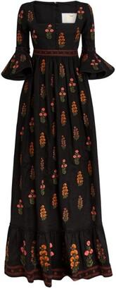 Agua Bendita Embroidered Ambar Maxi Dress
