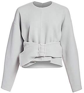 3.1 Phillip Lim Women's Belted Wool Blend Oversized Sweater - Size 0