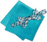 Alfani Men's Blue Bow Tie & Pocket Square Set, Only at Macy's