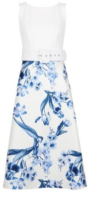 Dorothy Perkins Womens Luxe Ivory China Floral Print Midi Dress, Ivory