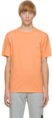 MAISON KITSUNÉ Orange Fox Patch T-Shirt