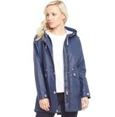 Trespass Womens Shoreline Waterproof Hooded Paddington Jacket Navy