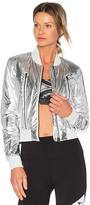 Alo Off Duty Bomber Jacket in Metallic Silver. - size L (also in )